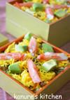 ひな祭り♪カニカマとアボカドのちらし寿司