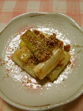 白ねぎの塩麹バター炒め