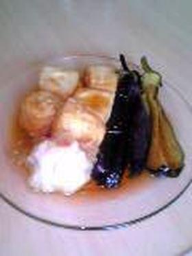 豆腐とナスの揚げ浸し