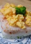 ひなまつりに・3色寿司(菱形の押し寿司)