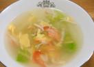 カニカマの春色スープ☆