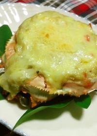 餅入り蟹の甲羅グラタン