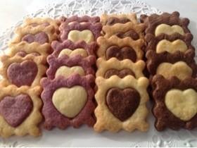 バレンタイン型抜きクッキー(卵不使用)