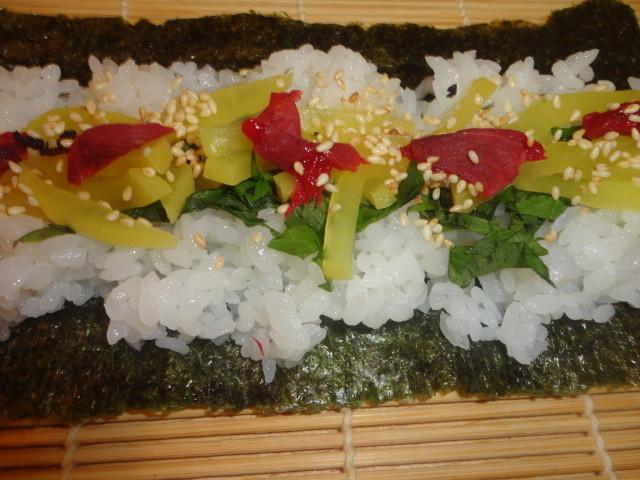 簡単あまり漬物DE巻き寿司☆