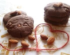 アーモンドとチョコの米粉クッキー