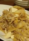 白菜えのき豆腐の肉味噌味炒め