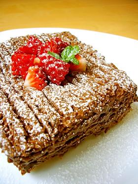 レンジで作れる☆簡単♪HM♡チョコケーキ