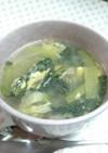 牛肉とちぢみ菜の鶏塩スープ☆