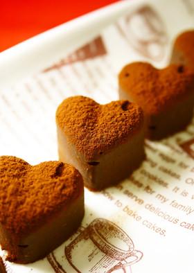バレンタイン♥レンジで簡単♪生チョコ