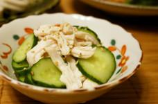 簡単☆蒸し鶏と胡瓜の和え物