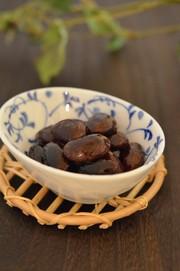 圧力鍋で簡単♪紫花豆煮。の写真