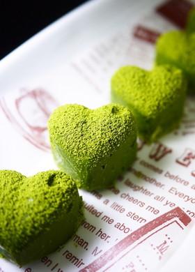 バレンタイン♥レンジで簡単♪抹茶生チョコ