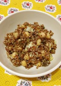 ひよこ豆とキノアのサラダ