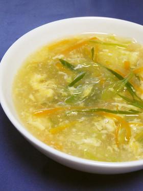 ヘルシー☆長ネギと春雨の酸辣湯(麺)