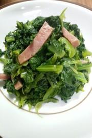 沖縄料理 カラシナ炒めの写真