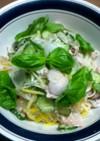 サッパリ美味しい…俺流の鮭缶のサラスパ