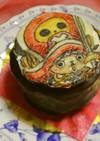 写し絵シートで簡単キャラチョコケーキ