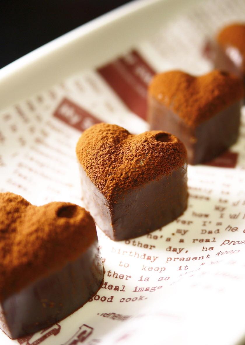 バレンタイン♥レンジで♪ビターな生チョコ