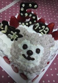 ホットケーキMix★ダッフィ-角型ケーキ