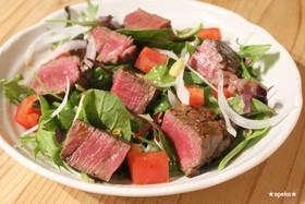 簡単おうちカフェ★牛ステーキのサラダ