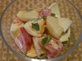 爽やか☆ゆで卵とプラムのサラダ