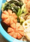キャラ弁☆簡単飾り切りウインナーの花