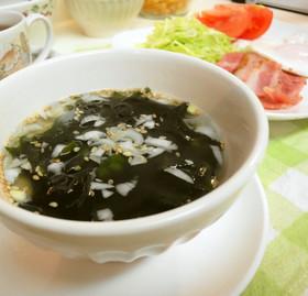 簡単*お湯を注ぐだけ*若布スープ
