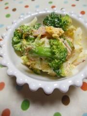 ブロッコリーとゆで卵のサラダの写真