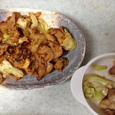 豚キャベツの味噌炒め〜豚キムチ炒め