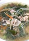 茎ワカメの中華風スープ