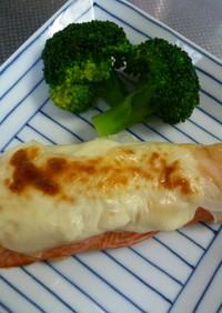 鮭のとろける味噌チーズ焼き♪