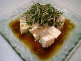5分でOK!スプラウトと豆腐のやっこサラダ