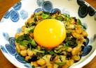納豆海苔ナムル☆卵を絡めて