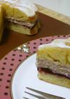 バレンタイン用のビクトリアケーキ