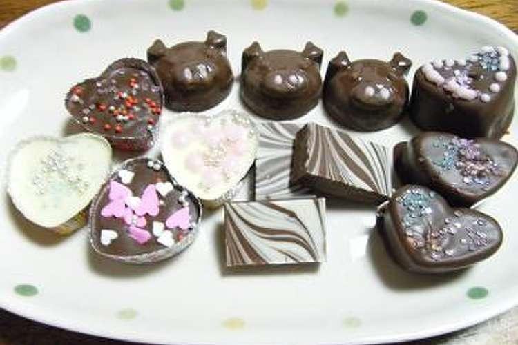 溶かし 固める チョコ て