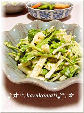 長芋で水菜が美味しいネバネバサラダ