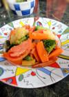 トマトと冷凍洋風野菜のイタリアンソテー