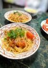トマトとツナのペペロンチーノ