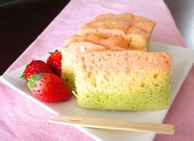 ひな祭りに♡HMで簡単3色蒸しパンケーキ