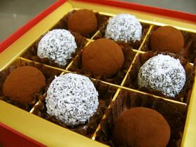 チョコ不使用ココアパウダーで濃厚トリュフ