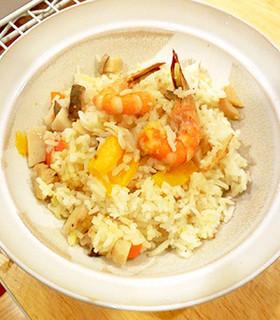 塩レモンDEパエリア風炊き込みご飯