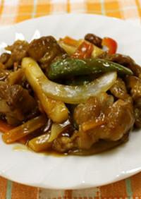 音更野菜と細切れ肉で作る酢豚★音更