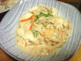 豆腐の豆乳みそ煮