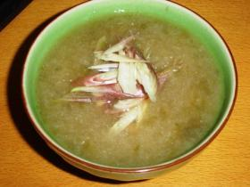 あおさとかぶのスープ