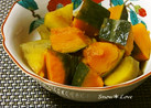 簡単過ぎる☆かぼちゃとサツマイモの煮物