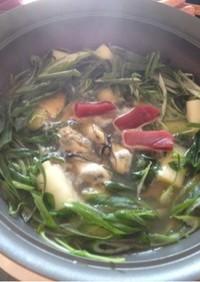 牡蠣で作る江戸名物「簡単☆本格ねぎま鍋