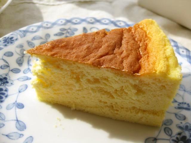 ふわ~じゅわ~のスフレチーズケーキ