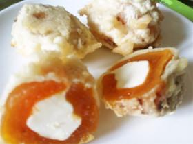 干し柿&クリームチーズの天ぷら