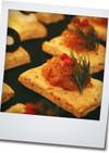 オレガノとチーズのお手製クラッカー