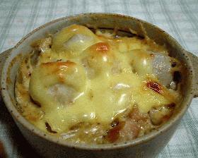 里芋と鶏肉のグラタン